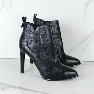 Kylie Kendall Black Heeled Pointy Toe Booties 9.5